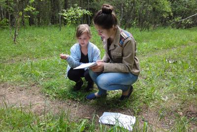 Выпускница Воскресной Школы 2011 года, теперь сама проводит испытание для следующих поколений