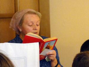 Стихи читает сестра Ольга